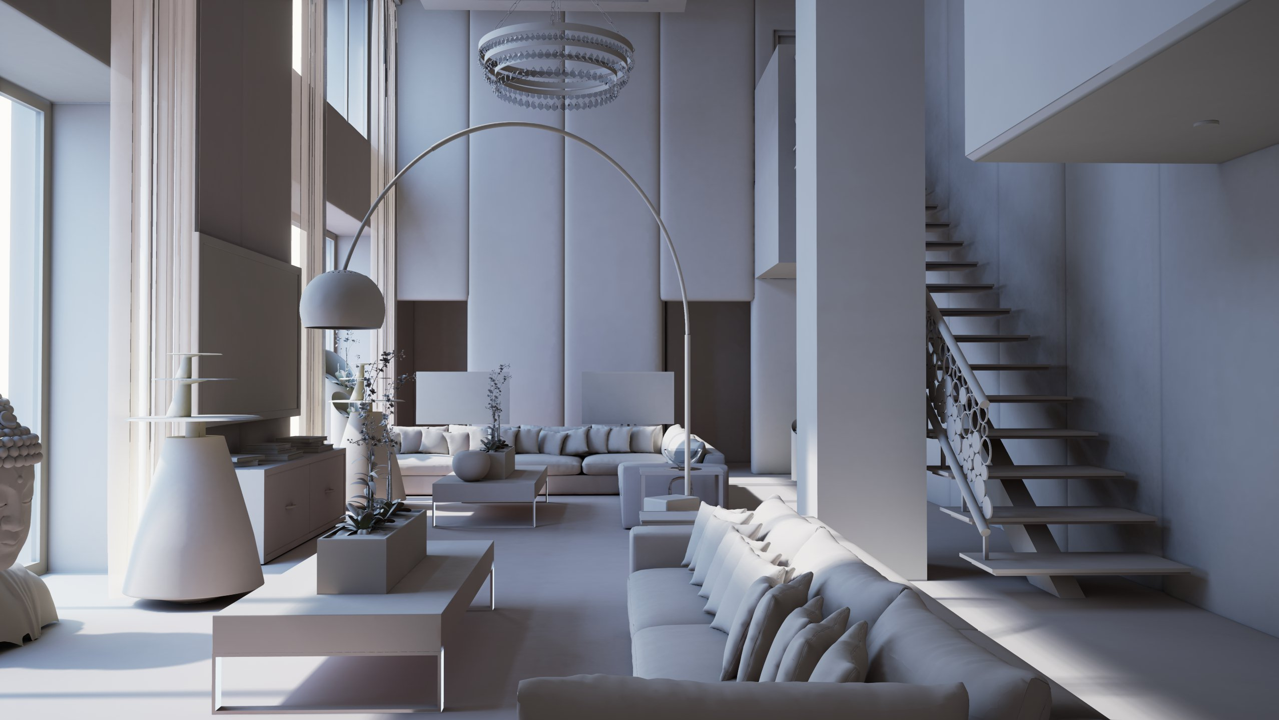 Interior architectural real time visualization in unreal for Interior architectural columns