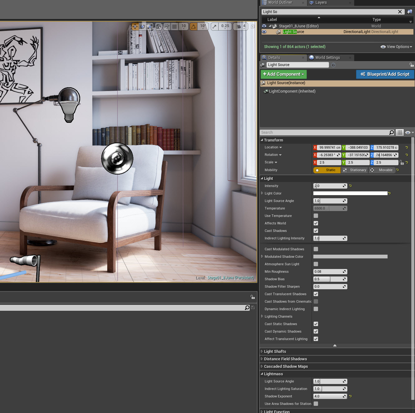 Basic Interior in Unreal Engine 4 12 – Real Time 3D
